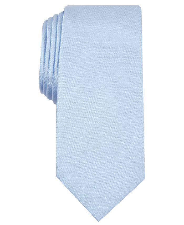 Alfani - Men's Solid Texture Slim Tie