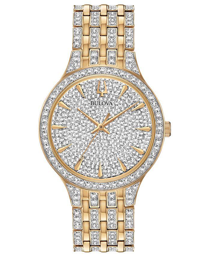 Bulova - Men's Phantom Crystal-Accent Two-Tone Stainless Steel Bracelet Watch 40mm