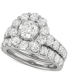 Marchesa Certified Diamond Bridal Set (4 ct. t.w.) in 18k White, Yellow and Rose Gold