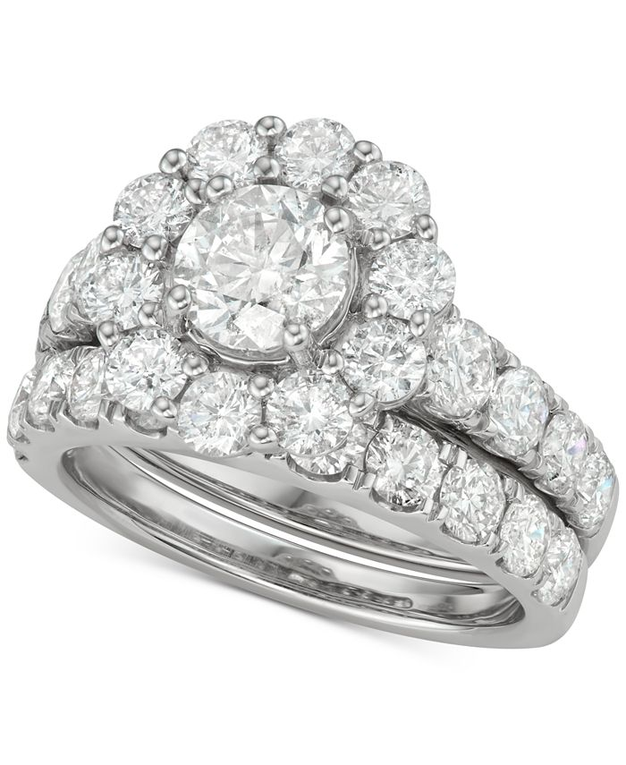 Marchesa - Certified Diamond Bridal Set (4 ct. t.w.) in 18k White Gold