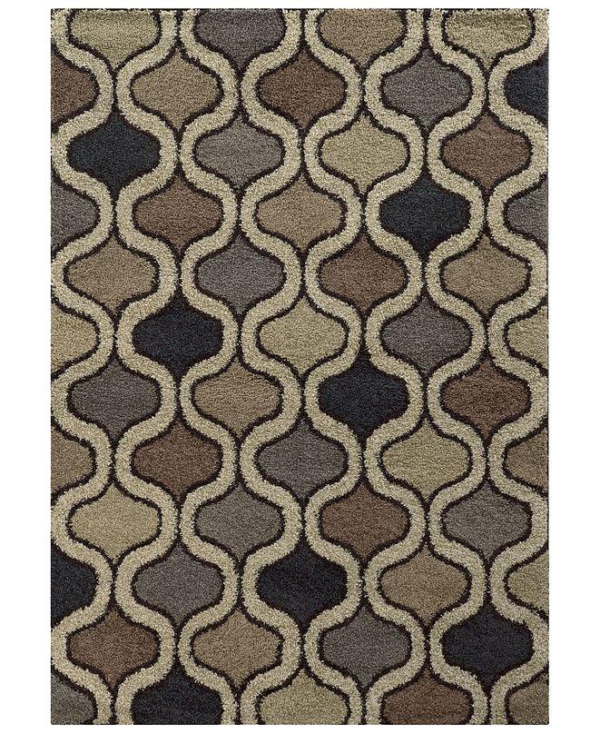 "Oriental Weavers Covington Shag 532E6 Beige/Multi 3'3"" x 5'5"" Area Rug"