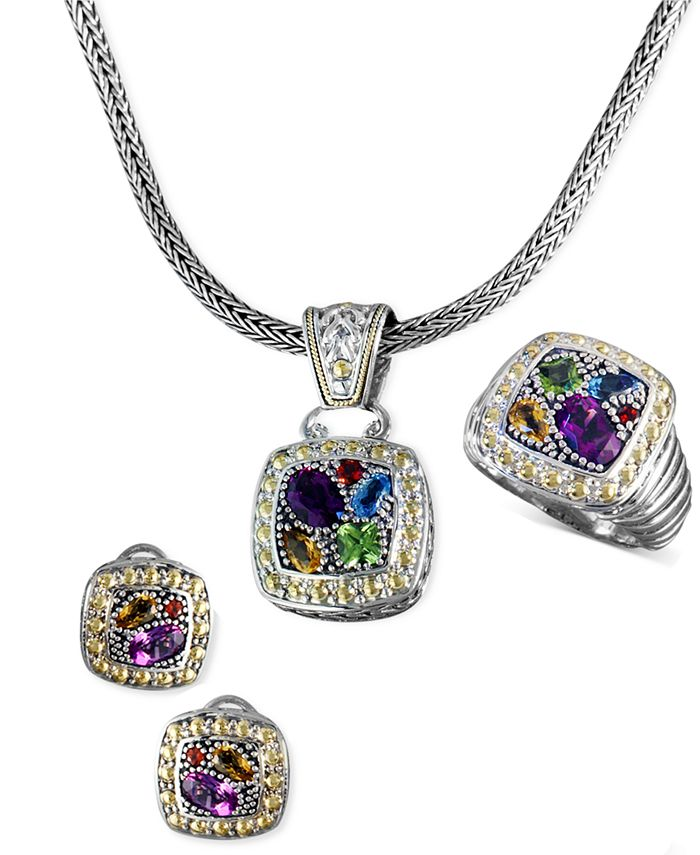 EFFY Collection - Jewelry Multistone Jewelry Ensemble in Sterling Silver and 18k Gold