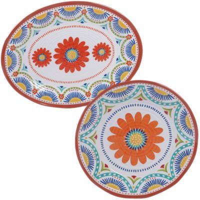 Vera Cruz Melamine 2 Piece Platter Set