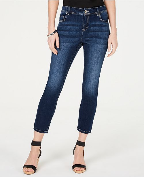 INC International Concepts I.N.C. INCEssentials Petite Skinny Cropped Jeans, Created for Macy's