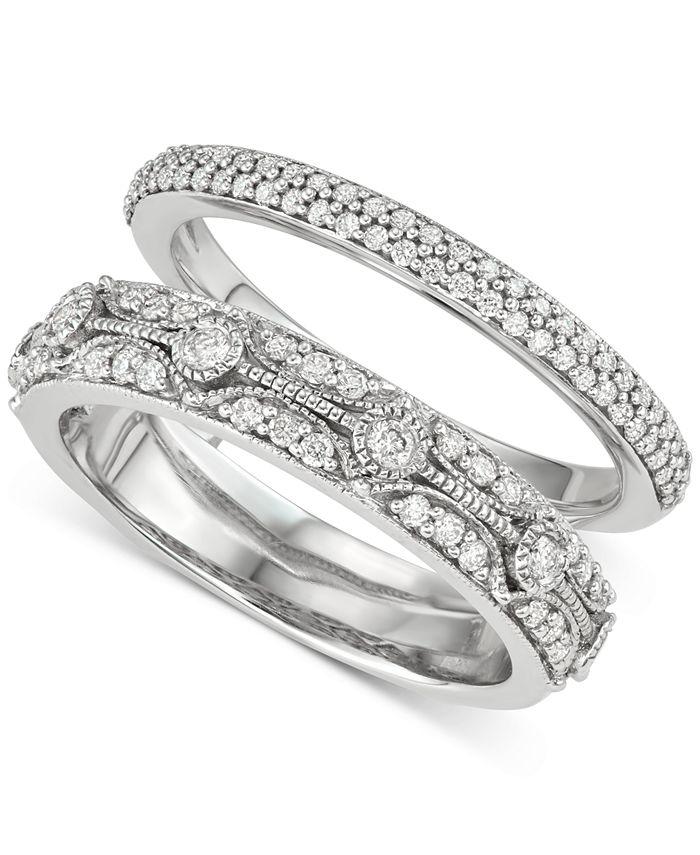 Macy's - Diamond Enhancer Ring (1/2 ct. t.w.) in 14k White Gold