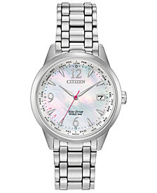 Citizen Eco-Drive Women's World Time (non A-T) Stainless Steel Bracelet Watch 36mm