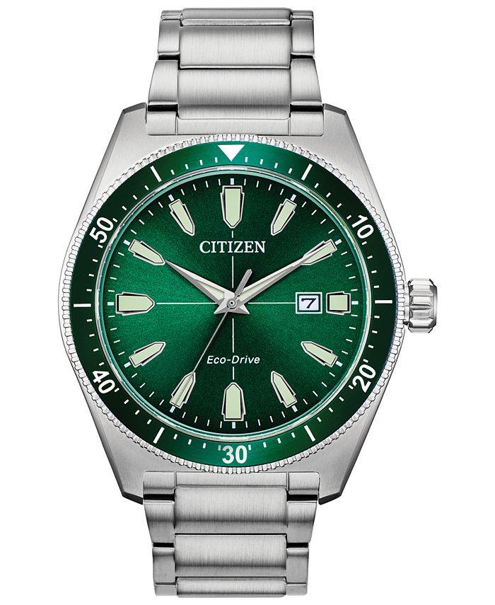 Citizen - Men's Brycen Stainless Steel Bracelet Watch 43mm