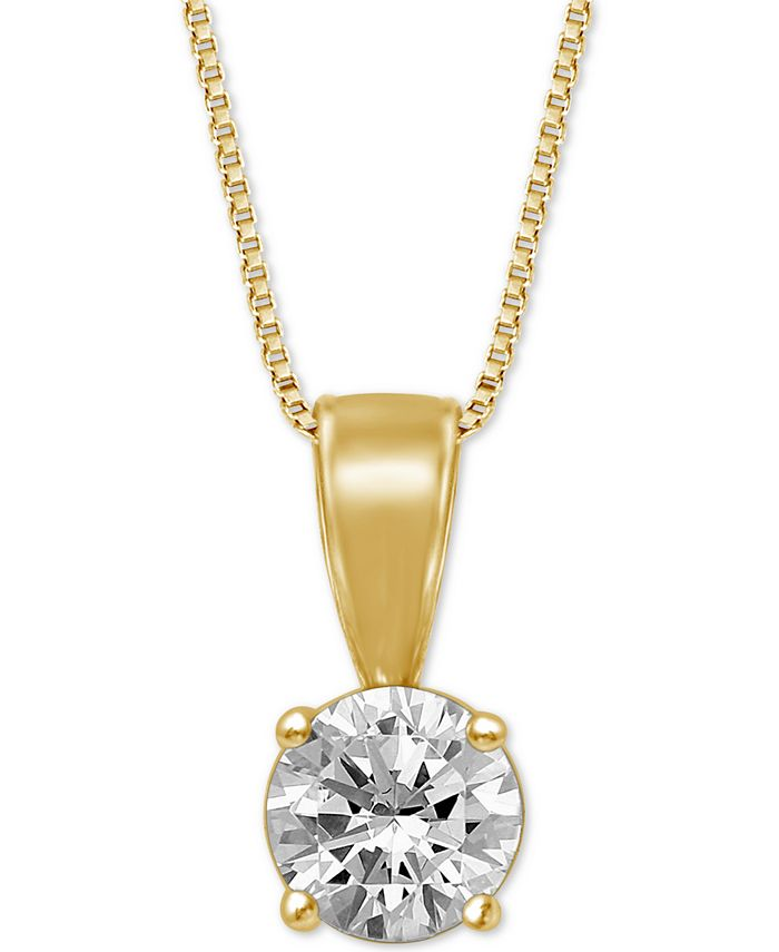 """Macy's - Diamond Solitaire 18"""" Pendant Necklace (3/4 ct. t.w.)"""