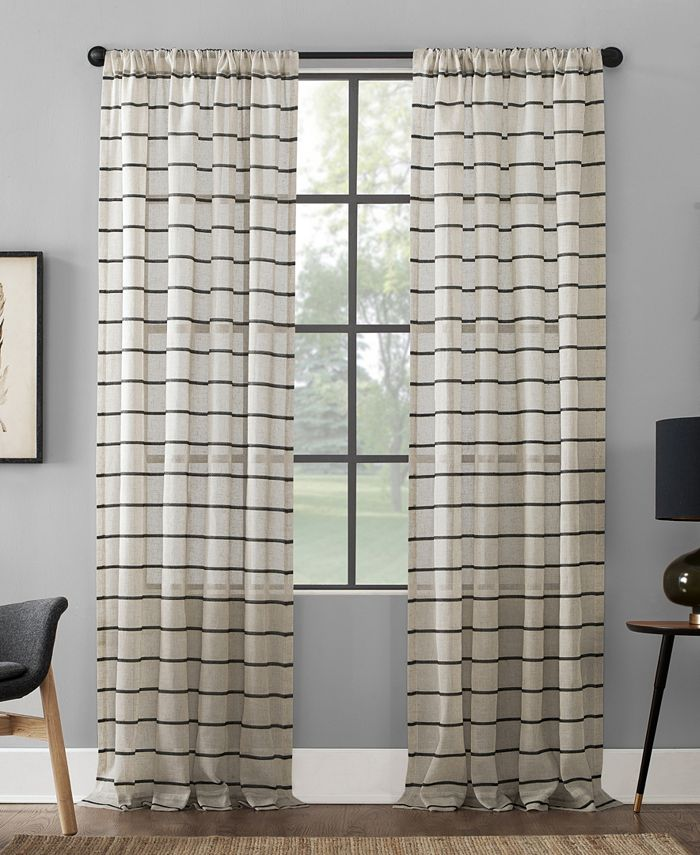 Clean Window - Twill Stripe Anti-Dust Curtain Panel Collection