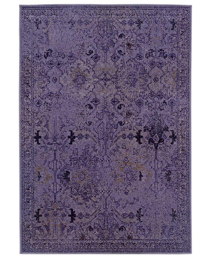 """Oriental Weavers - Area Rug, Revamp REV7802M Violet 9'10"""" x 12'10"""""""