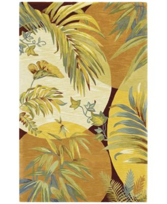 """Sparta Breezes 3113 Coral/Ivory 3'6"""" x 5'6"""" Area Rug"""