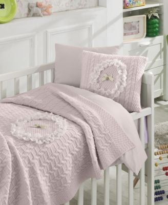 Lace Premium 6 Piece Crib Bedding Set