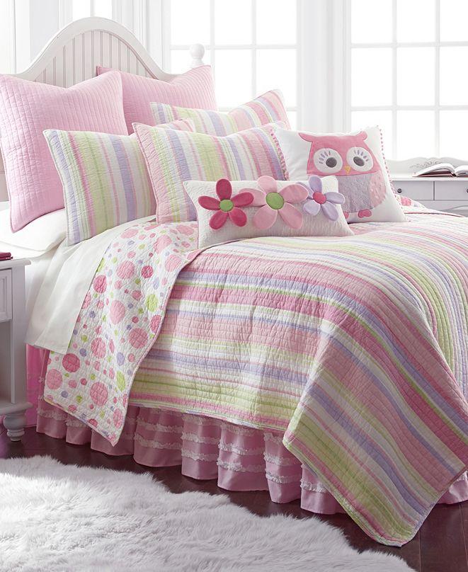 Levtex Home Merrill Stripe Girl Twin Quilt Set