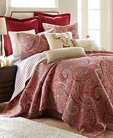 Spruce Red Paisley Quilt Set and Euro Sham Collection