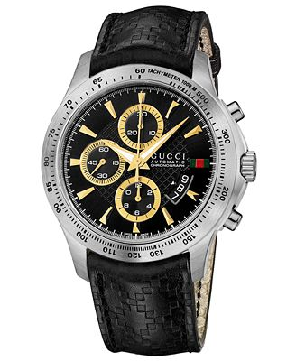 gucci s swiss chronograph g timeless black