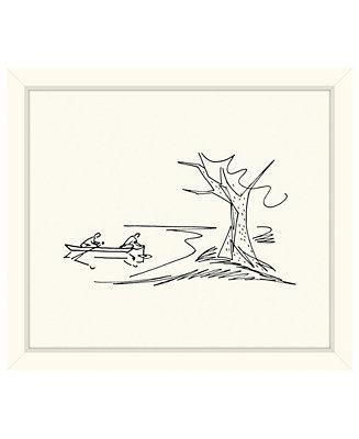 Melissa Van Hise Canoe Sketch Framed Giclee Wall Art 29 X 33 X 2 Reviews Wall Art Macy S