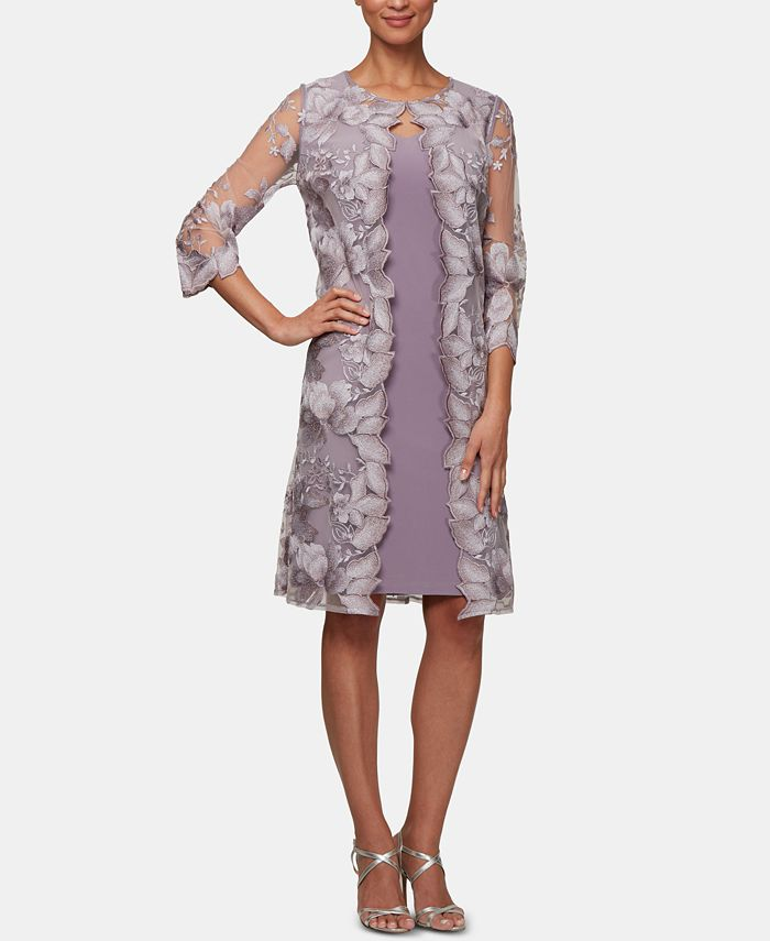 Alex Evenings - Embroidered Jacket Dress
