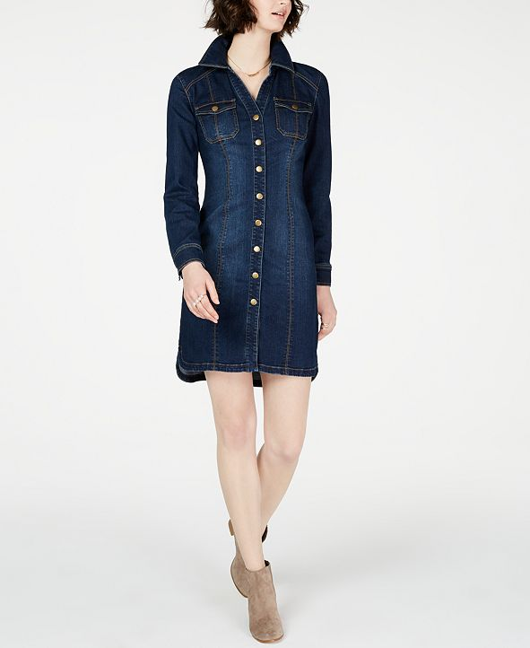 INC International Concepts INC Denim Shirtdress, Created for Macy's