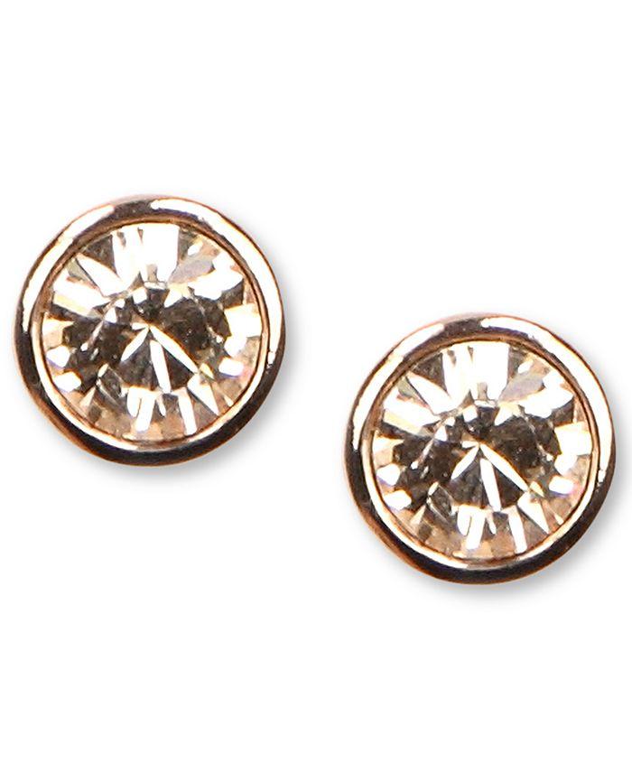 Givenchy - Earrings, Rose Gold-Tone Swarovski Element Stud Earrings