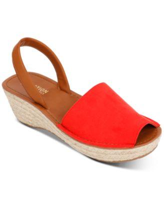 Fine Glass Platform Wedge Sandals
