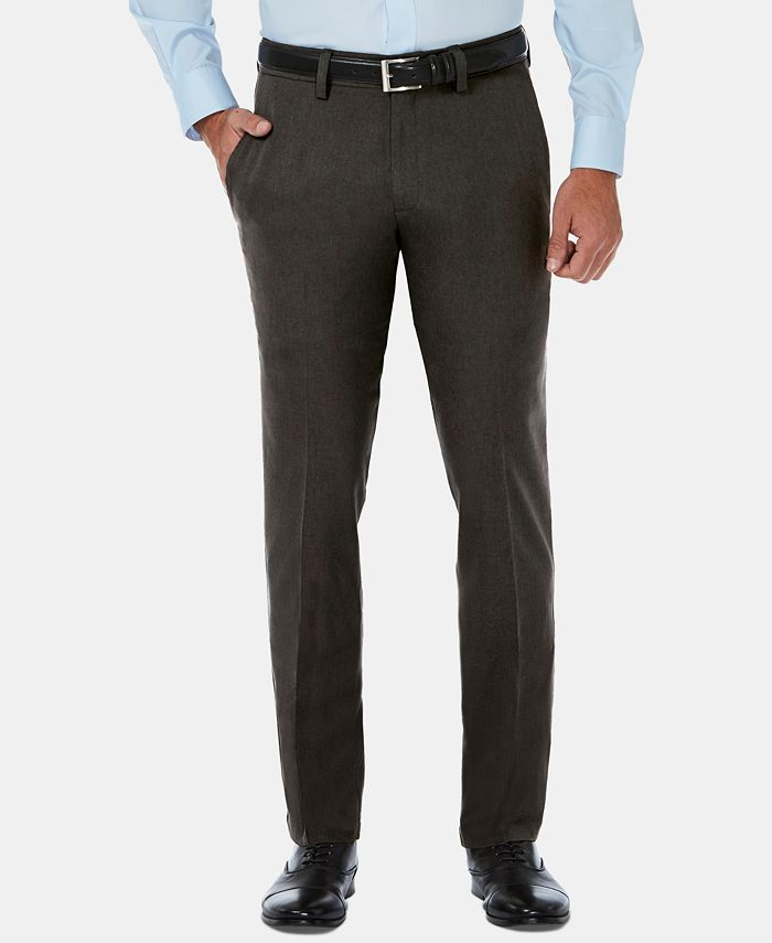 Haggar - Men's Cool 18 Pro Slim-Fit 4-Way Stretch Moisture-Wicking Non-Iron Dress Pants