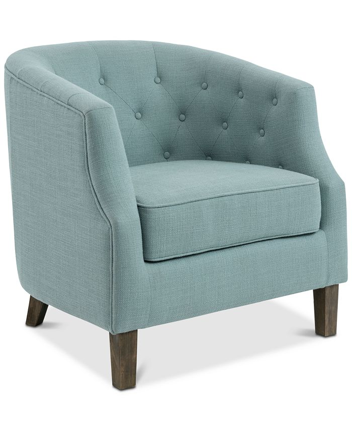 Furniture - Ansley Barrel Chair, Quick Ship