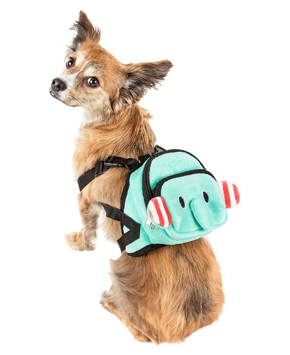 Pet Life Central Pet Life 'Dumbone' Dual-Pocketed Compartmental Animated Dog Harness Backpack