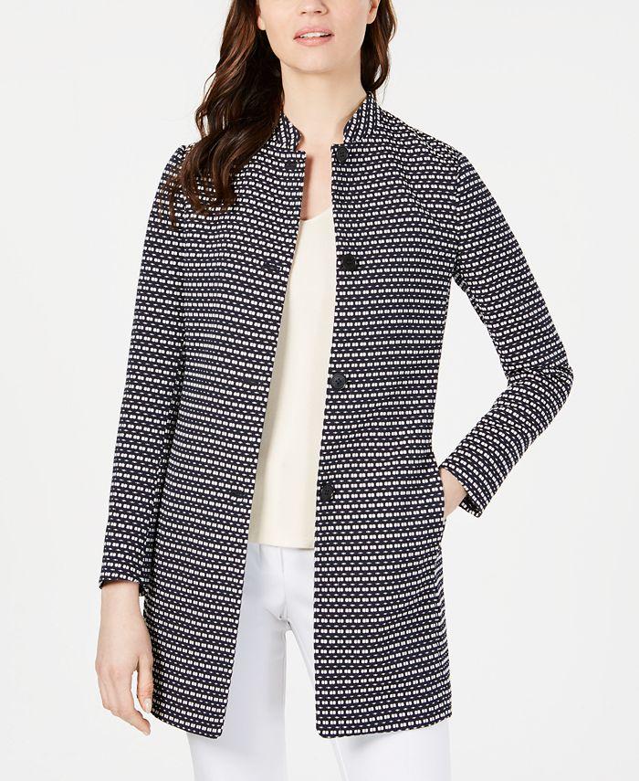Anne Klein - Ribbon-Tweed Topper Jacket