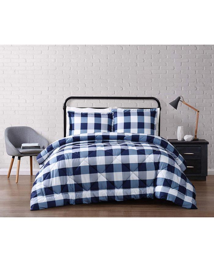 Truly Soft - Everyday Buffalo Plaid Navy Twin XL Comforter Set