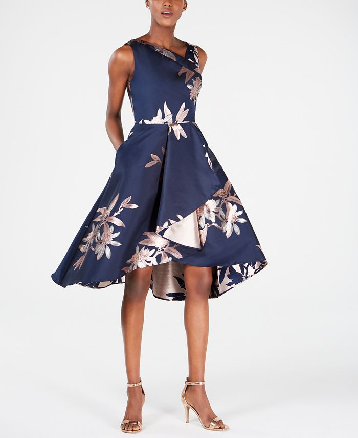 Adrianna Papell - Jacquard Fit & Flare Dress