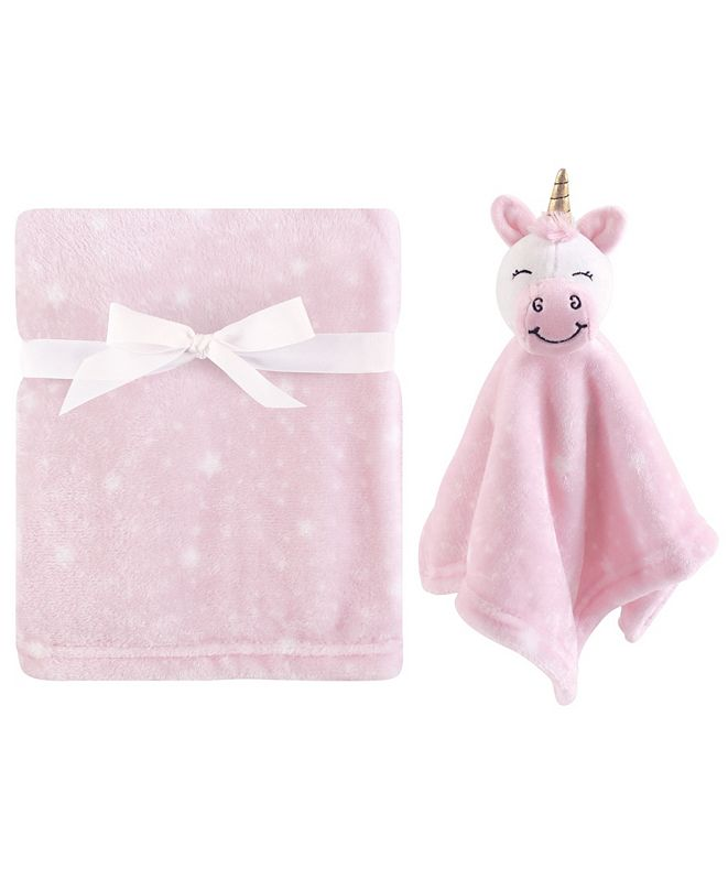 Hudson Baby Plush Blanket and Security Blanket, 2-Piece Set, Unicorn, One Size