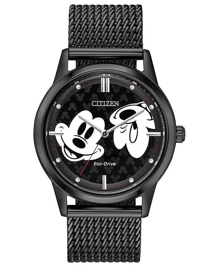 Citizen - Unisex Black Stainless Steel Mesh Bracelet Watch 40mm