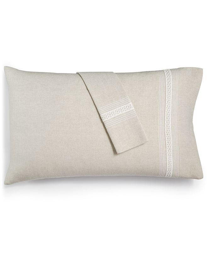 Hotel Collection Madison Hemstitch King Pillowcase Pair, Created for Macy's