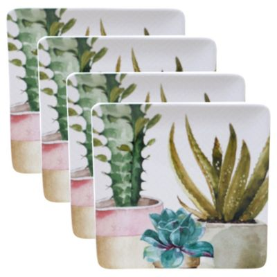 Cactus Verde 4-Pc. Square Dinner Plate