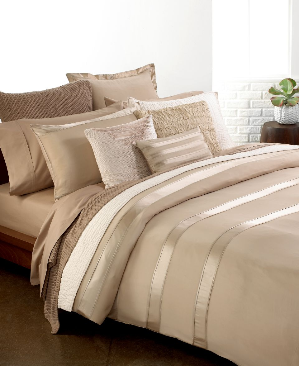 Donna Karan Bedding Modern Classics Platinum Ash Collection Bedding - Donna-karans-modern-classics-bedding-collection