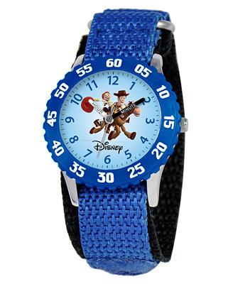 Disney Watch, Kid's Woody and Jessie Time Teacher Blue Velcro Strap 31mm W000061