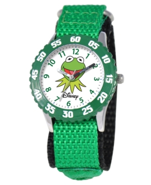 Disney Watch, Kid's Muppets Kermit Time Teacher Green Velcro Strap 31mm W000159