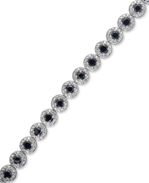 Sterling Silver Bracelet, Black Diamond Tennis Bracelet (3 ct. t.w.)