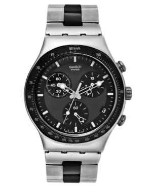 Swatch Watch, Men's Swiss Chronograph Windfall Two Tone Stainless Steel Bracelet 40mm YCS410GX