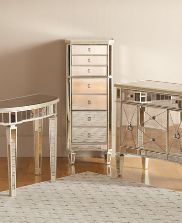 marais accent furniture collection mirrored furniture