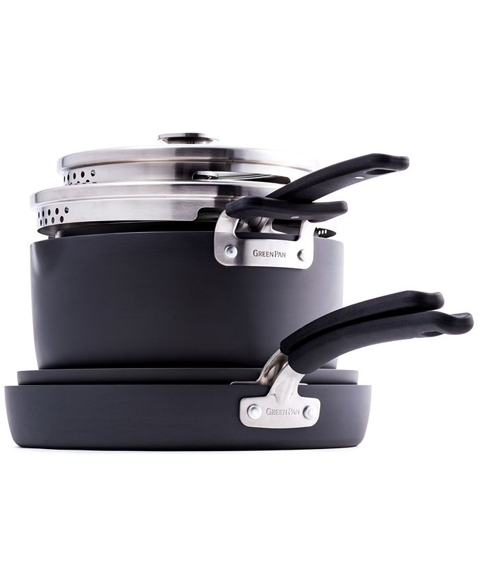 GreenPan - 6-Pc. Stackable Ceramic Nonstick Cookware Set