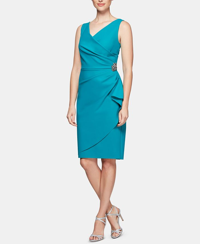 Alex Evenings - Embellished Ruched Sheath Dress