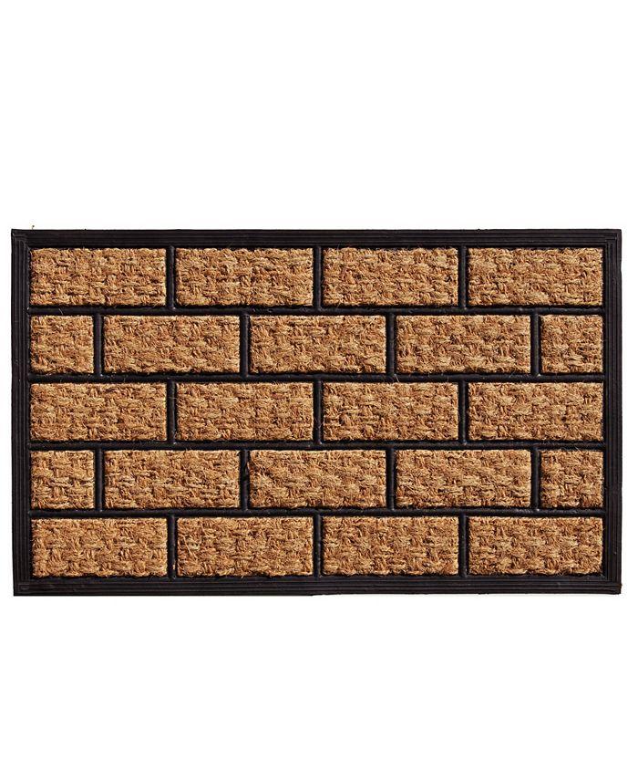 """Home & More - Brickmann 18"""" x 30"""" Coir/Rubber Doormat"""