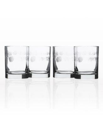 Icy Pine Flute 8Oz - Set Of 4 Glasses