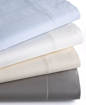 Hotel Collection 700 Thread Count Striped MicroCotton King Flat Sheet