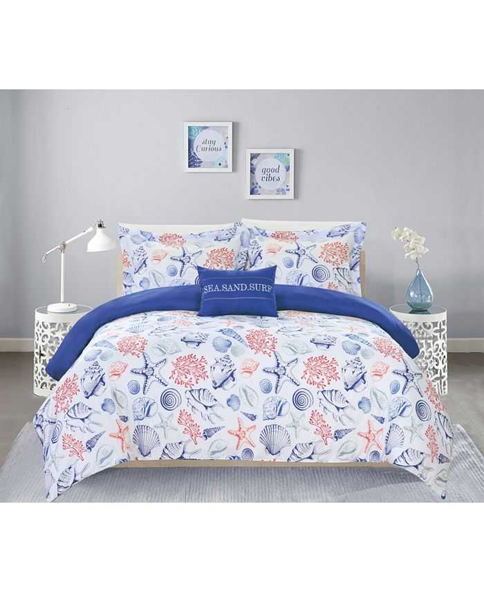 Chic Home - Talulah 8-Pc. Queen Bed In a Bag Duvet Set