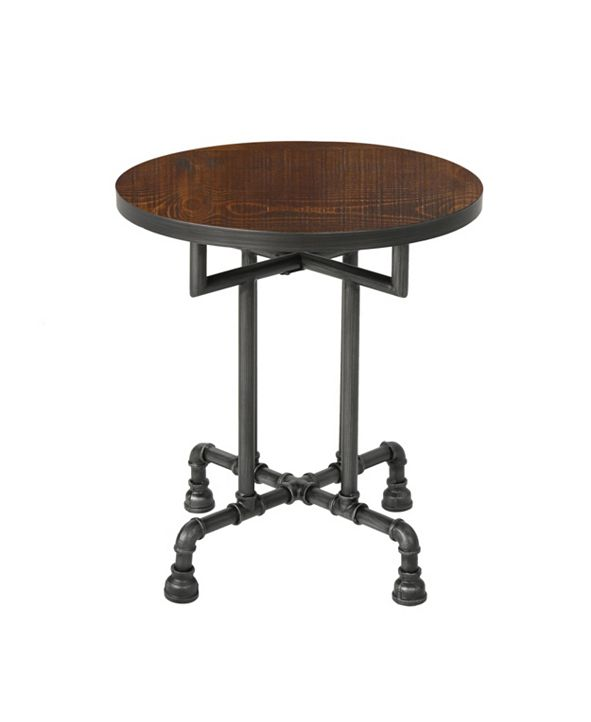 Noble House Westleigh Industrial Faux Wood End Table