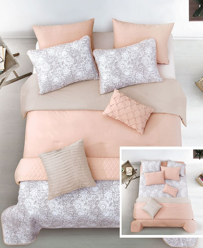 Riverbrook Home - Katie Blush 8-Pc. Layered Comforter and Coverlet Sets