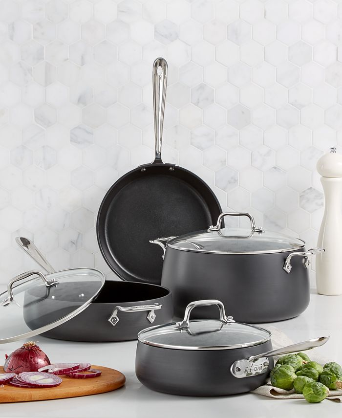 All-Clad - Hard Anodized Nonstick 7-Pc. Set
