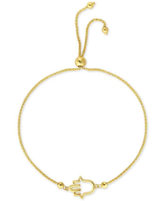 Macy's Hamsa Bolo Bracelet in 10k Gold & Reviews - Bracelets - Jewelry & Watches - Macy's